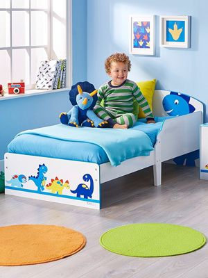 Dinosaurs Toddler Bed - Fully Sprung Mattress