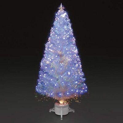 High Quality 6ft Polar Ice White Fibre Optic U0026 LED Christmas Tree