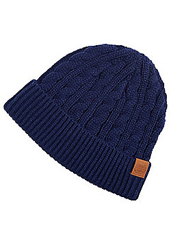 F&F Cable Knit Beanie - Navy