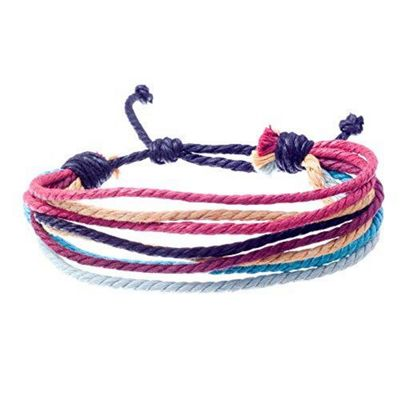 Urban Male Eleko Multi Strand Coloured Surf Inspired Bracelet For Men