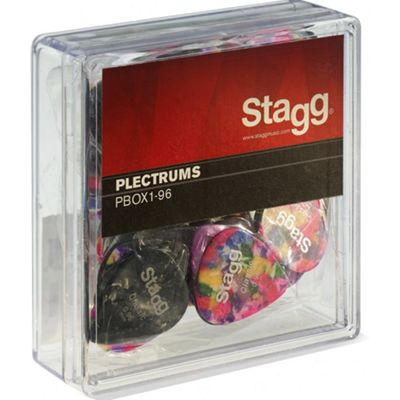Stagg Guitar Pick/Plectrums x 100 mixed colour
