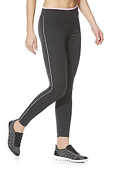 F&F Active Piped Leggings - Grey