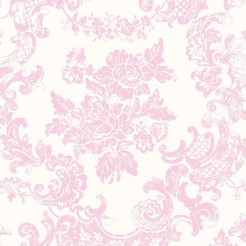 Coloroll Vintage Lace Marshmallow Wallpaper