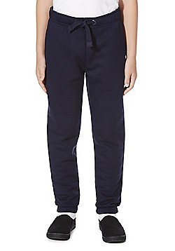 F&F School Unisex Ribbed Waist Joggers with As New Technology - Navy blue