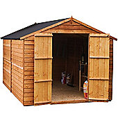 Mercia Windowless Overlap Apex Wooden Shed, 12x8ft