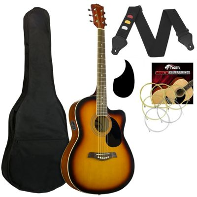 Tiger Sunburst Electro Acoustic Pack