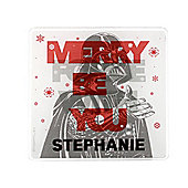 Star Wars Personalised Merry Force Coaster Single Darth