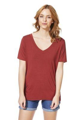 F&F Mercerised Cross-Back T-Shirt Red 6