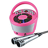 Groov-e Portable Karaoke Machine with CD Player and Bluetooth Playback - Pink