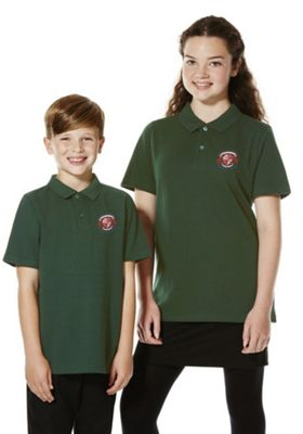 Embroidered School Polo Shirt 11-12 years Bottle green