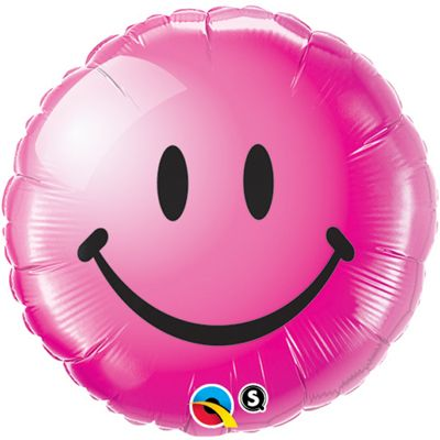 Smiley Face Wild Berry Balloon - 18 inch Foil