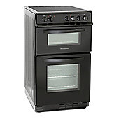 Montpellier MDC500FK 500mm Double Electric Oven Ceramic Hob Fan Oven Black