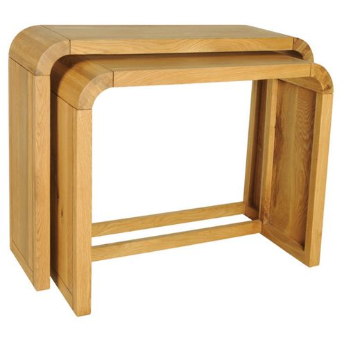 Oceans Apart Cadence Oak Resized Consol Table (Set of 2)