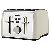 Breville Colour Notes VTT629 4 Slice Toaster - Cream