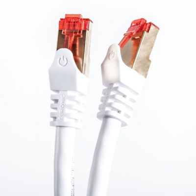 Duronic White 20m Cat6a Network cable