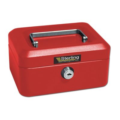 Sterling Red Metal Cash Box - Small