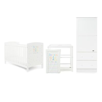 Obaby Grace Inspire 3 Piece Room Set and Changing Mat - Dream Big Little One