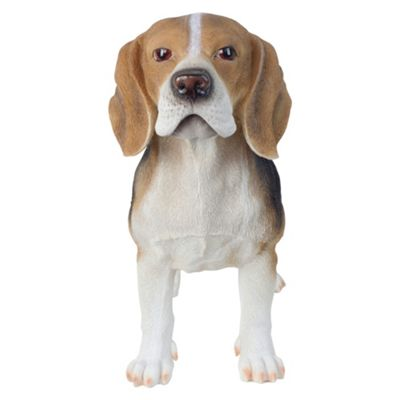 Large 39cm Realistic Standing Beagle Dog Polyresin Garden Ornament