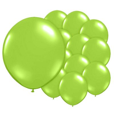Chic Green 5 inch Latex Balloons - 100 Pack