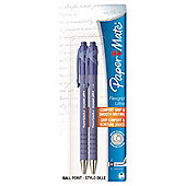 Papermate Flexgrip Ultra Blue Ballpoint Pens 2 pack