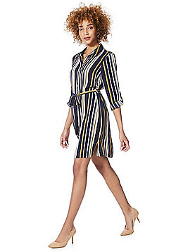 F&F Striped Shirt Dress - Multi