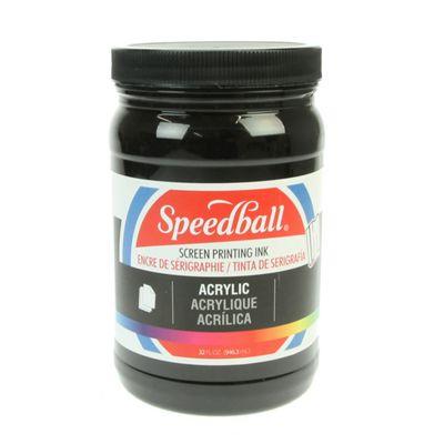 Speedball Acrylic Screen Printing Ink - Black 946.3ml