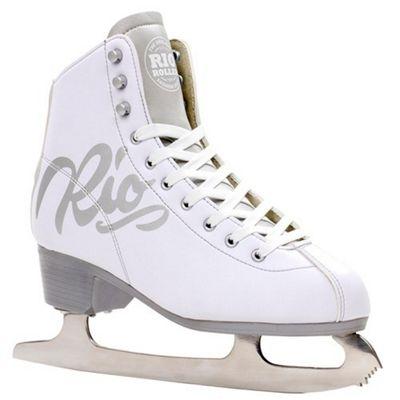 Rio Roller Script Ice Skates - White UK 4