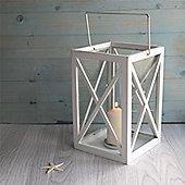 Large White Wooden Storm Lantern
