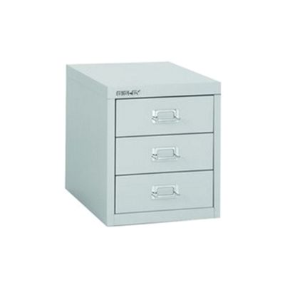 Bisley Multi-Drawer Cabinet 12 inches 3 Drawer Non-Locking Grey 12/3 H123NL-073