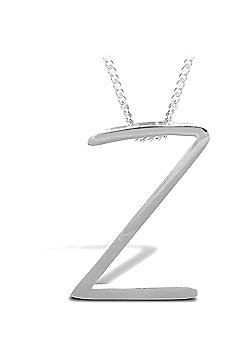 Sterling Silver 18 inch Initial Necklace Identity Pendant - Letter Z