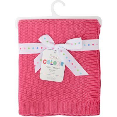 Love Colour Cotton Blanket (Raspberry)