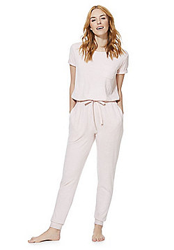 F&F Lightweight Brushed Knit Lounge Jumpsuit - Pink