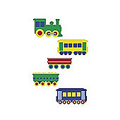Wallies Wall Cut Outs Toy Trains