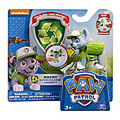 "Paw Patrol Nickelodeon Action Pack Pup & Badge 3"" ROCKY"