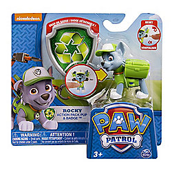 """Paw Patrol Nickelodeon Action Pack Pup & Badge 3"""" ROCKY"""