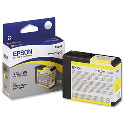 Epson UltraChrome Yellow Ink Cartridge (80ml) - Stylus Pro 3800
