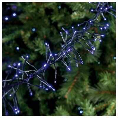Festive 720 LED Cluster Lights, Warm Blue