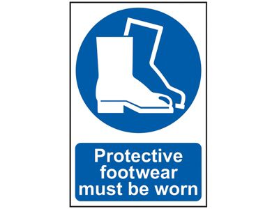 Scan Protective Footwear Must Be Worn - PVC 200 x 300mm