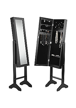 Beautify Floor Standing Mirror and Jewellery Organiser - Black