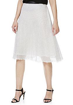 Cutie Sparkle Plisse Pleated Skirt - Silver