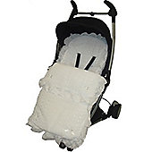 Broderie Anglaise Frilly Footmuff To Fit Quinny Zapp White