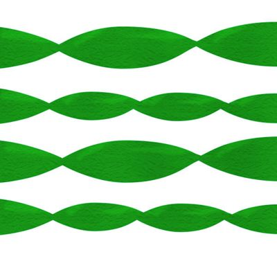Green Crepe Streamer - 152m