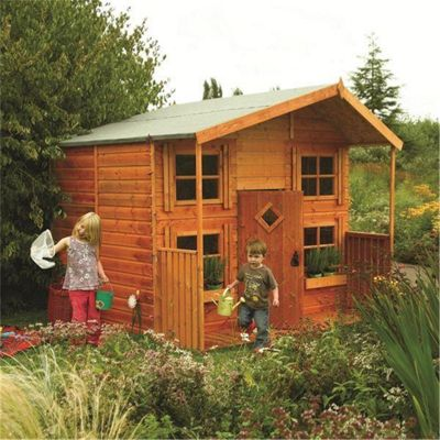 8 x 8 Deluxe Hideaway House Playhouse (2.48m x 2.48m) (8ft x 8ft)