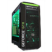Cube Tension VR Nvidia Edition The Ultimate VR Gaming PC i7k Skylake Watercooled with MSI Geforce GTX 1070 8Gb GPU Intel Core i7 Seagate 2Tb SSHD with