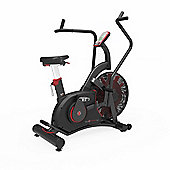 Exercise Bike Commercial Air Bike Dual Action Fan Bike Full Body Gym Workout Crossfit Black