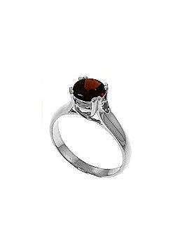QP Jewellers 1.10ct Garnet Solitaire Ring in Sterling Silver