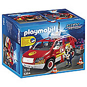 Playmobil 5364 City Action Fire Brigade Chief's Car with Light and Sound