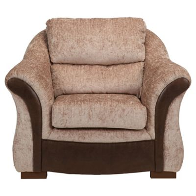 Windsor Fabric Armchair Mink & Chocolate