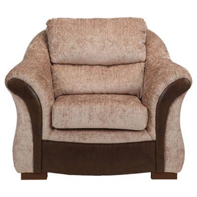 Windsor Fabric Armchair Mink & Chocolate