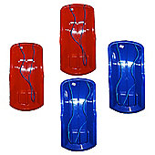 Set Of Four Alpha Sled / Sledges (Two Red, Two Blue)